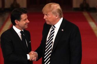 Trump l-a primit pe premierul italian la Casa Albă: Multe alte ţări din Europa ar trebui să facă la fel