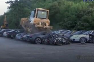 Mașini de lux în valoare de peste 4 milioane de lire sterline, distruse la comanda unui președinte. VIDEO
