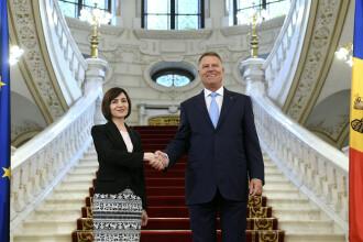 """Premierul R. Moldova, Maia Sandu, la Cotroceni: """"Avem mare nevoie de sprijinul României"""""""