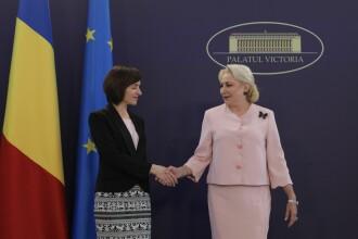 """Dăncilă, alături de premierul Maia Sandu: """"România va continua sprijinul pentru Moldova"""""""