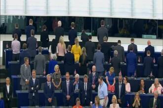 VIDEO. Europarlamentarii Brexit s-au întors cu spatele în timpul intonării imnului UE