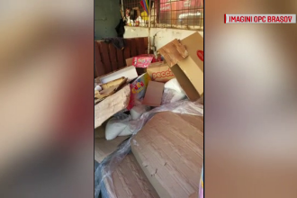Zeci de tone de alimente, ţinute în soare la Braşov. Urmau să ajungă în magazine