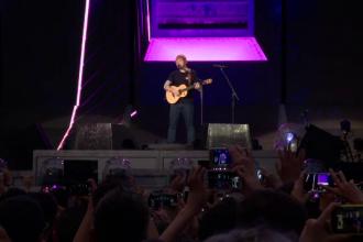Cel mai așteptat concert al anului. Ce mesaj emoționant a avut Ed Sheeran pentru români