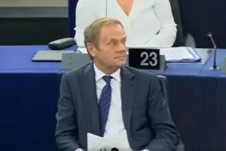Reacția lui Donald Tusk după ce Maria Grapini s-a răstit la el. VIDEO