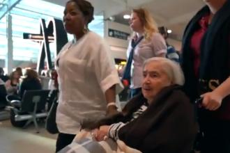 Reacția unei femei care a zburat pentru prima dată cu avionul la 95 de ani