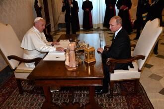 Putin s-a întâlnit pentru a treia oară cu Papa.