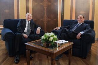 Putin, întâlnire cu Berlusconi pe aeroportul Fiumicino din Roma
