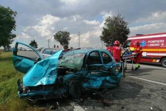 Grav accident în județul Constanța. 5 răniți după ce o mașină a intrat pe contrasens