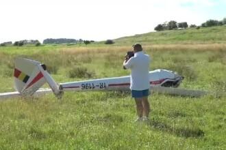 Un planor s-a prăbuşit pe aerodromul din Sânpetru. Pilotul are răni serioase