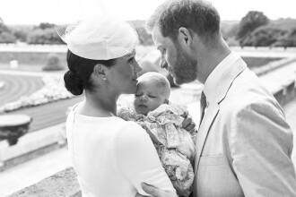 Primele imagini de la botezul lui Archie, fiul Prințului Harry și al lui Meghan Markle