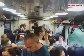 Haos într-un tren spre Capitală. Oamenii au călătorit în picioare, în căldură insuportabilă