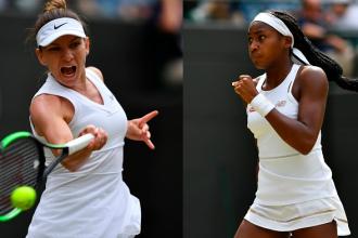 Halep - Gauff 6-3, 6-3 la Wimbledon. Simona s-a calificat în sferturi. FOTO