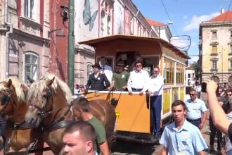 150 de ani de când primul tramvai a circulat în România. Era tras de cai