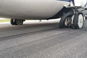 Alertă pe Aeroportul Otopeni. Anvelopele unui avion au explodat la aterizare. FOTO