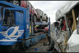Mobilizare uriașă după accidentul cumplit din Olt, cu 19 răniți și un mort. VIDEO