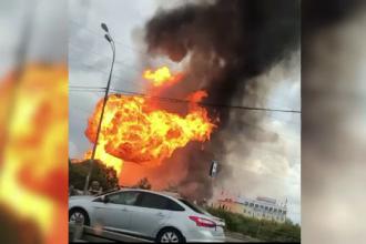 VIDEO Flăcări de 50 de metri după un incendiu la o centrală electrică, în Rusia