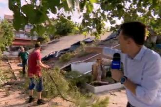 Corespondență Știrile PRO TV din Grecia. Imagini de pe terasa unde a murit românca și fiul ei