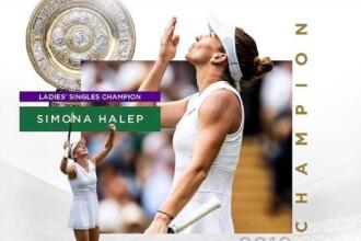 Prima reacție a Simonei Halep după câștigarea trofeului de la Wimbledon