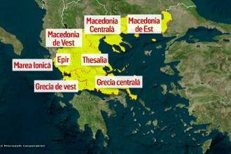 Pericolul nu a trecut pentru românii din Grecia. Nouă alertă de furtuni și ploi torențiale