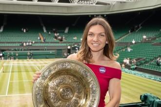 """Simona Halep, noi imagini cu trofeul primit la Wimbledon. """"Cu noul meu prieten"""""""