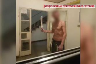 Polițist înarmat cu o lopată, pentru a potoli un recidivist care își teroriza vecinii cu sabia