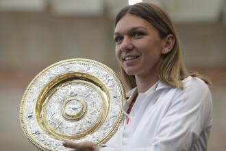 Simona Halep s-a întors în România și a prezentat trofeul de la Wimbledon. VIDEO