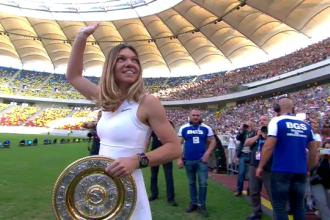 Momentul în care Simona Halep a intrat pe Arena Națională cu trofeul Wimbledon