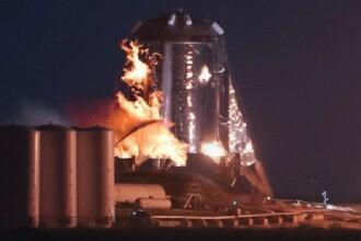 """Nava spațială """"StarHopper"""" a SpaceX a luat foc la ultimul test. VIDEO"""