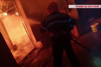 A suferit arsuri grave după ce i-a luat foc casa. Pompierii s-au luptat 5 ore cu flăcările