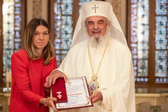 Simona Halep a primit cea mai înaltă distincţie a Patriarhiei Române