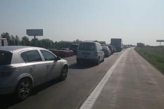 Accidente și aglomerație pe Autostrada Soarelui. 7 autoturisme au fost implicate, în total