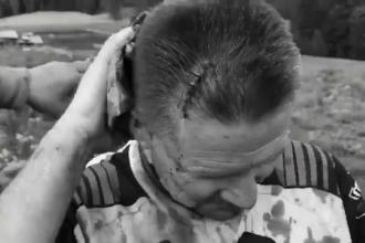 Momentul în care un belgian e bătut cu bâtele de câțiva ciobani în Bistrița