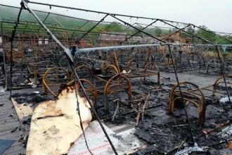 Incendiu într-un parc de distracţii. Un copil a murit şi mai mulţi au arsuri oribile