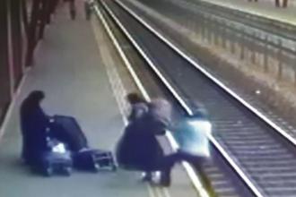 Un bărbat ar fi fost împins pe şinele de tren de 2 presupuse măicuţe, în Vaslui