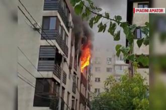 Incendiu într-un bloc din Capitală. Oamenii au fugit, îngroziţi