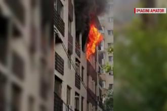 """Incendiu puternic într-un bloc nou din Capitală. """"Știţi ce e înăuntru: bombă!"""