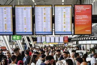 Haos pe aeroportul Schiphol din Olanda, Motivul pentru care au fost anulate 180 de zboruri