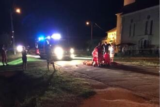 Un mort și 2 răniți grav după ce o motocicletă şi o bicicletă s-au ciocnit, în Arad