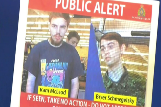 Alertă în Canada: 2 tineri care au ucis fără milă un cuplu de îndrăgostiți sunt de negăsit