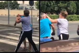 Bărbat bătut de o femeie în Arad. Scena filmată de un martor