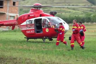 Trei răniți după un incendiu la un grup de sonde din Mureș. A fost chemat elicopterul SMURD