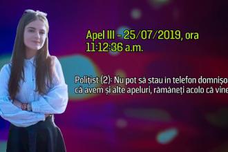 """Stenogramă: Alexandra s-a înfruntat și cu criminalul, și cu operatorii 112: """"Domnișoară, avem și alte apeluri"""