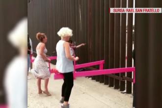 Zidul lui Trump, transformat în loc de joacă. Cine a avut ideea care a reunit familii