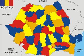Județele care se mențin în zona roșie, cu o incidență a cazurilor de COVID de peste 3 la mie