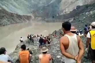 Momentul în care s-a prăbușit mina de jad din Myanmar. Cel puțin 162 de oameni au murit