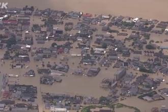 Imagini terifiante în Japonia. Inundațiile masive au făcut 15 victime