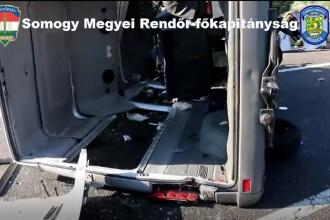 Un microbuz cu 9 români s-a răsturnat în Ungaria. Oamenii mergeau la muncă în străinătate
