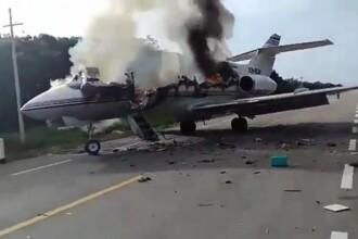 Un avion care ar fi transportat droguri s-a prăbușit în Mexic. Ce s-a descoperit în apropiere. VIDEO