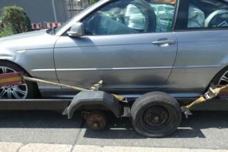 Cum transporta un român BMW-ul din Marea Britanie în România. Polițiștii l-au oprit imediat