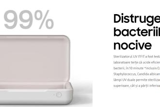 """Samsung lansează încărcătorul de telefon care ucide """"până la 99% din bacterii"""""""